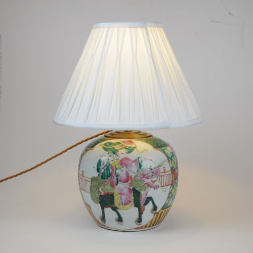 Chinese Famille Rose Table Lamp