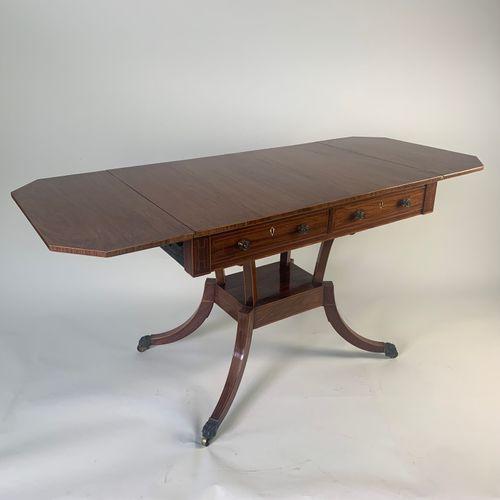 Regency Padouk Wood Sofa Table