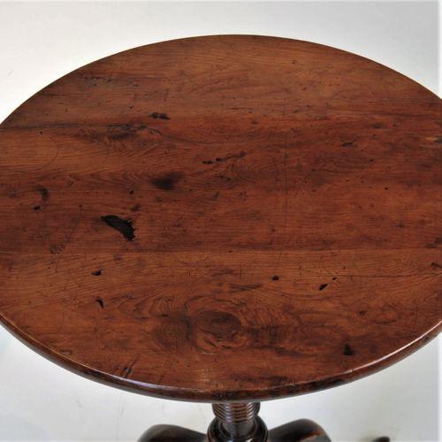 Yew wood tripod table