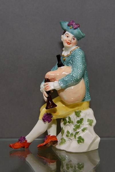 Meissen Figure of Harlequin