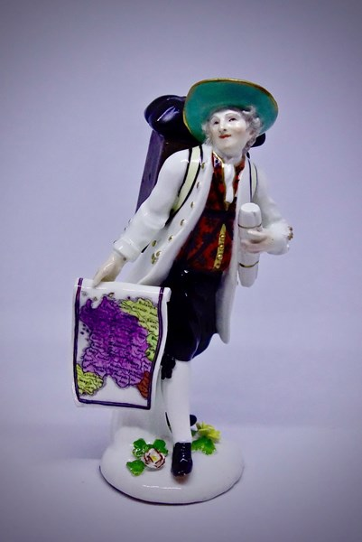 Meissen Figure of a Map Seller
