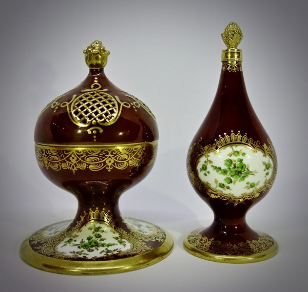 Meissen Scent bottle and Pomander