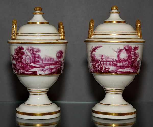 Pair of Höchst Vases