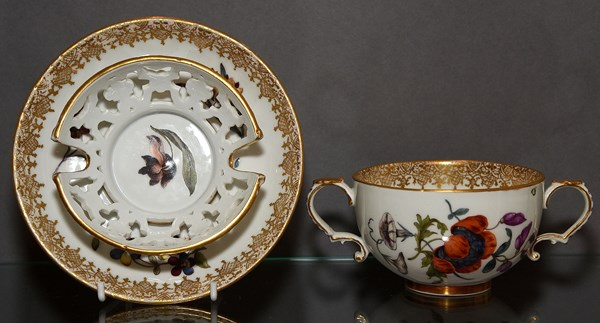 Meissen Cup and Trembleuse Saucer
