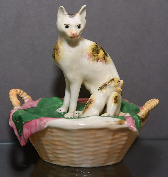 Staffordshire Cat and Kitten