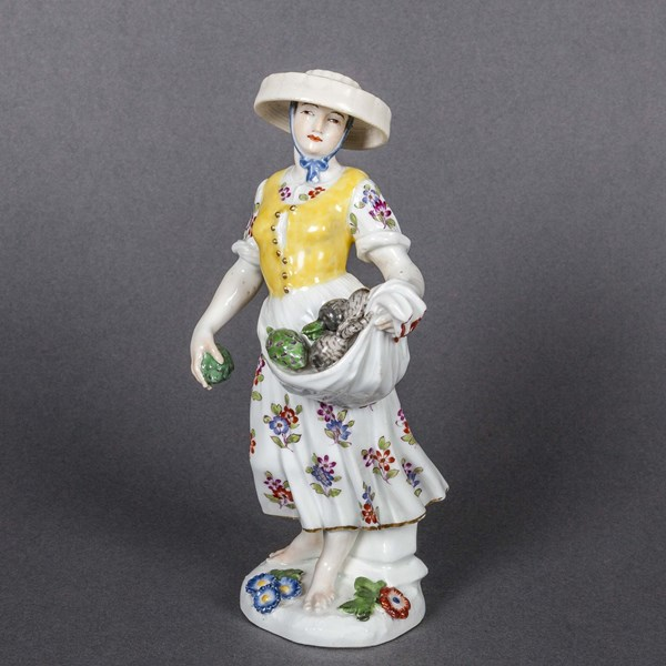Meissen Figure of a Vegetable Saleswoman