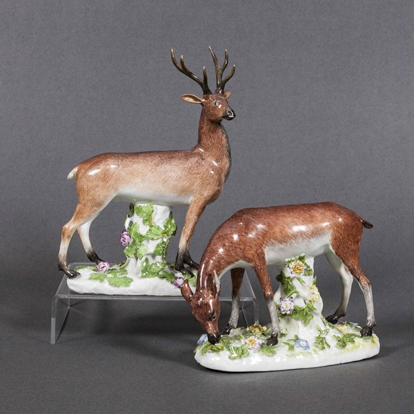 Meissen Stag and Doe