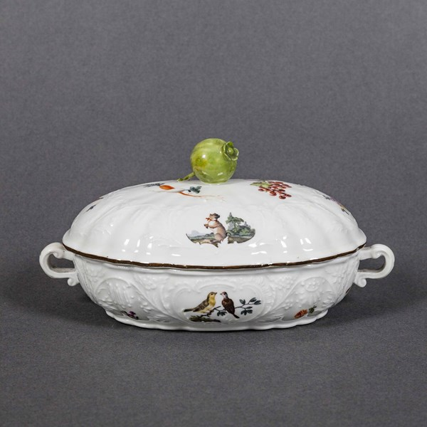 Meissen Butter Tub and Cover