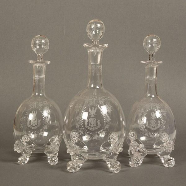 Webb Crystal Spirit Decanters