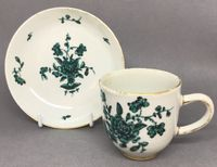 Chinese Export Coffee Cup and Saucer