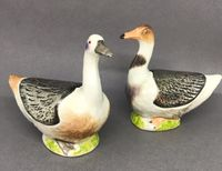 Pair of Meissen Duck Butter Boxes and Covers