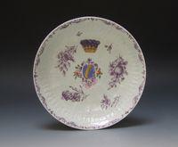 Worcester Armorial Saucer Dish