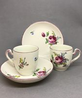 Pair of Tournai Cups and Saucers