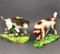 Pair of Derby figures of a Setter and Pointer