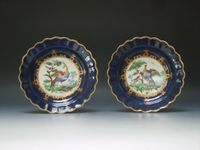 Pair of Worcester Dessert Plates