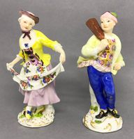 Pair of Meissen Figures of a Baker and his Dancing Companion