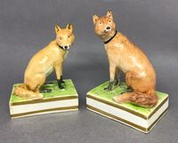 Two Derby Foxes