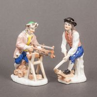Meissen Figures of Holzspalter and Holzäger