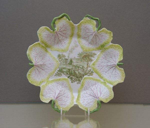 A very rare Longton Hall six leaf moulded dish