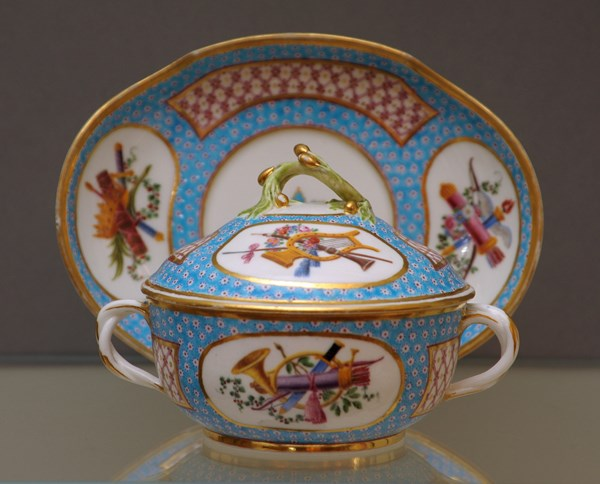 A Sèvres Covered Bowl and Stand