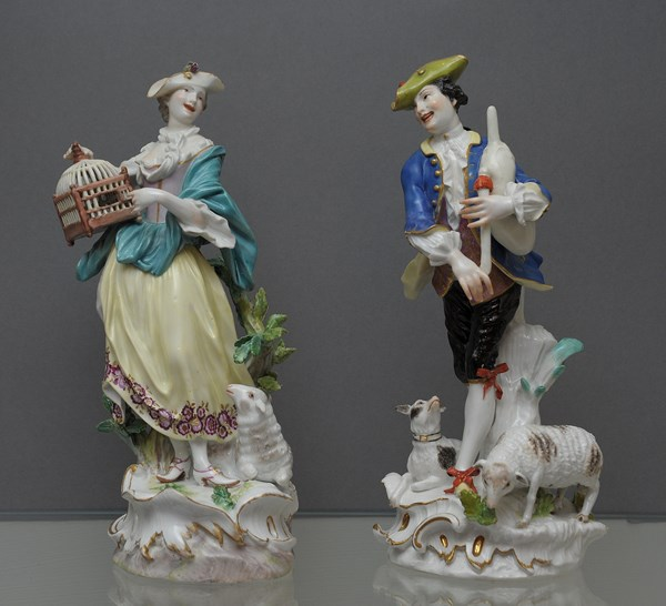 A Pair of large Meissen Figures