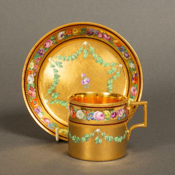 A Vienna Sorganthal Period Can and Saucer