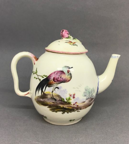 Small Mennecy Teapot and Cover