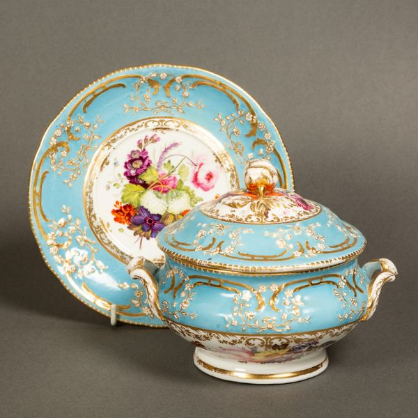 Coalport Sauce Tureen, Cover and Stand
