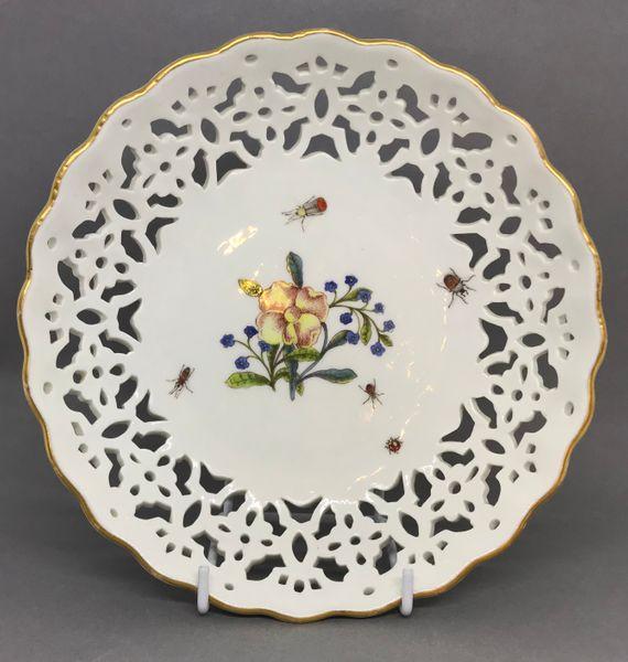 Pair of Meissen Pierced Bowls