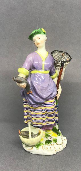 Meissen Figure of a Fisherwoman