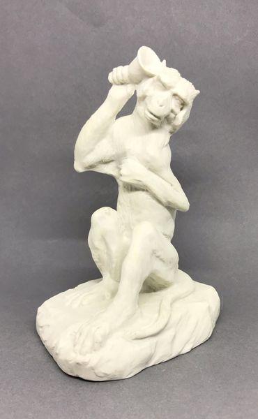 Biscuit Porcelain Model of a Monkey