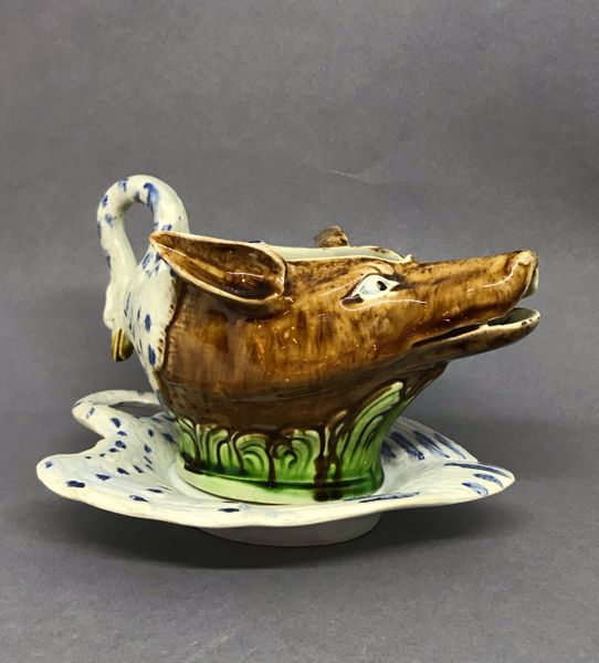 Staffordshire Pottery Sauceboat