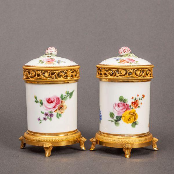 Pair of Sèvres Pot Pourris