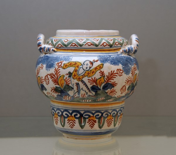 English Delftware Jar