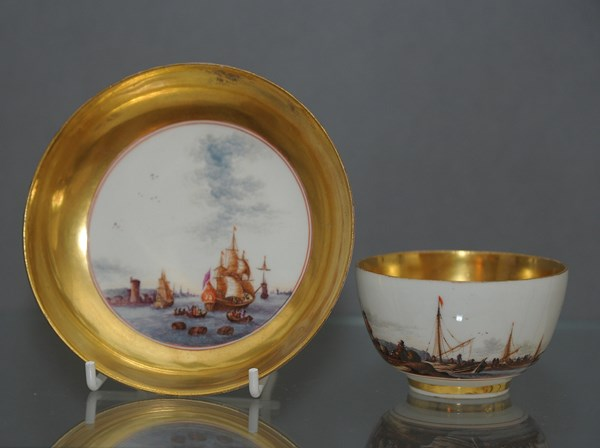 Meissen Tea Bowl and Saucer