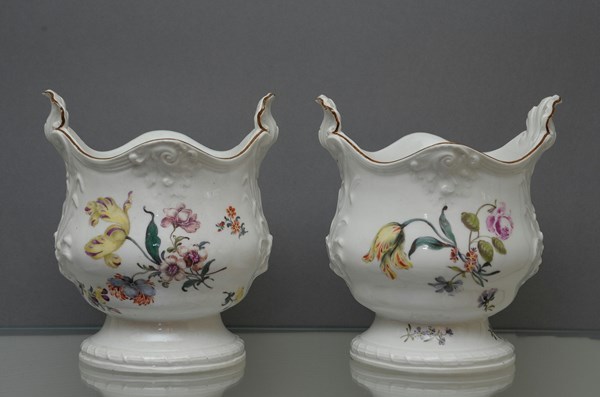 Pair of Meissen Cache Pots